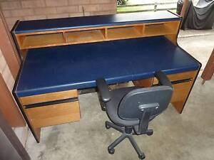 LARGE DESK with 4 drawers, CHAIR, GOOD CONDITION Frenchs Forest Warringah Area Preview
