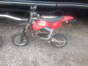 Mini dirt bikes, tool boxes and racing lawn tractor for sale