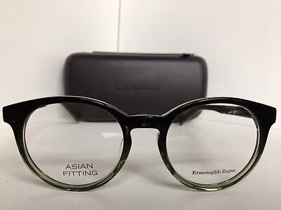 New Ermenegildo Zegna EZ 5024-F 095 Asian Fitting Round 52mm Eyeglasses Italy