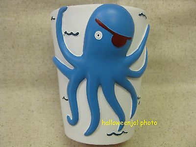KASSATEX BAMBINI OCTOPUS PIRATE TUMBLER CUP BATHROOM KIDS Bath BLUE Accessories - Kids Bathroom Accessories
