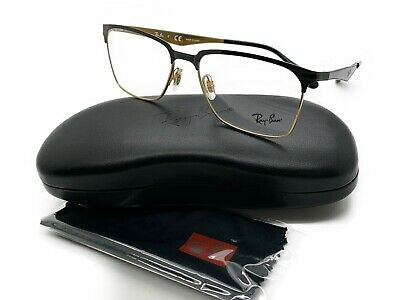 Ray Ban Eyeglasses RB6344 RX/6344 RayBan 2890 Gold/Black Optical Frame (Ray Ban Prescription Lenses)