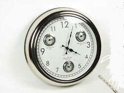 Large 18  Retro Nautical-Style Time Zone Clock London New York  Melbourne