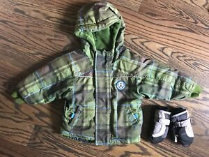 Boys' Winter jacket, 12-18 months, plus free gloves