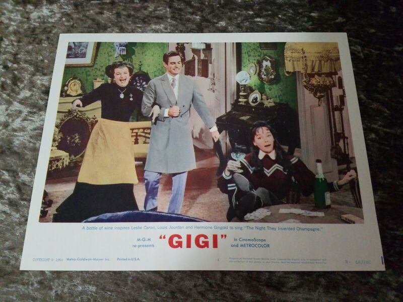 Gigi lobby cards - Leslie Caron, Louis Jordan  - R66 Set of 8