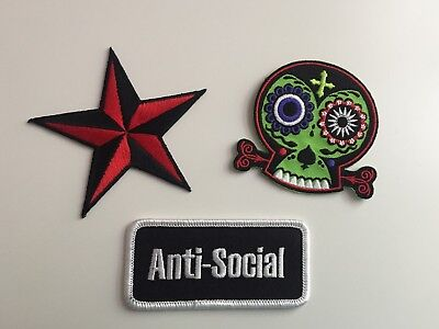 Hot Topic Exclusive Iron-on Patches. Lot of 3. NEW!