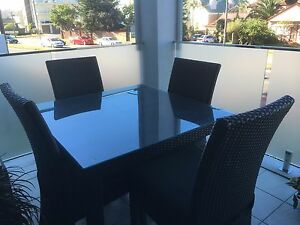 Seldom used 5 piece outdoor wicker setting Collaroy Manly Area Preview
