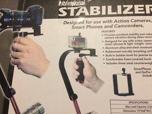 Camera stabilizer for camcorders and smart phones