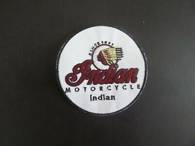 Vintage Indian motorcycle iron on patch embroidered collectible 3-3/8 x 3-3/8
