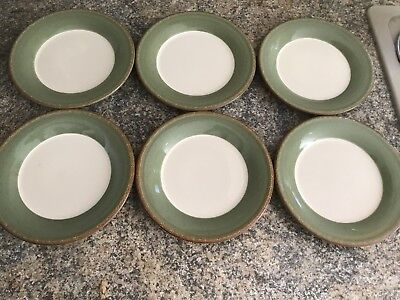BHS BRECON GREEN SIDE PLATES. SET OF SIX