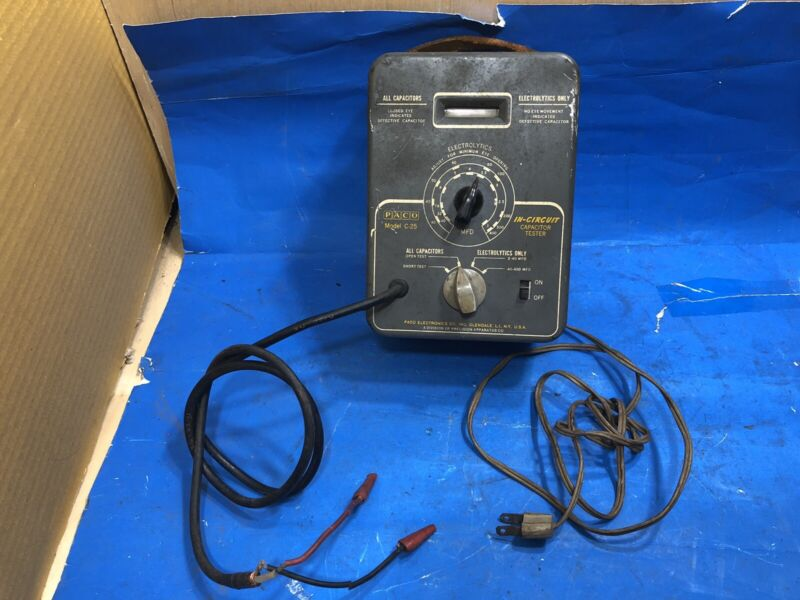 Vintage Paco in-circuit Capacitor Tester  Model C25 Naval Movie Theater