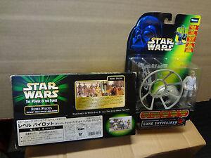 Rebel-Pilots-Cinema-Scene-TOMY-Japan-amp-Luke-Gunner-Tri-Logo-POTF2-RARE-Star-Wars