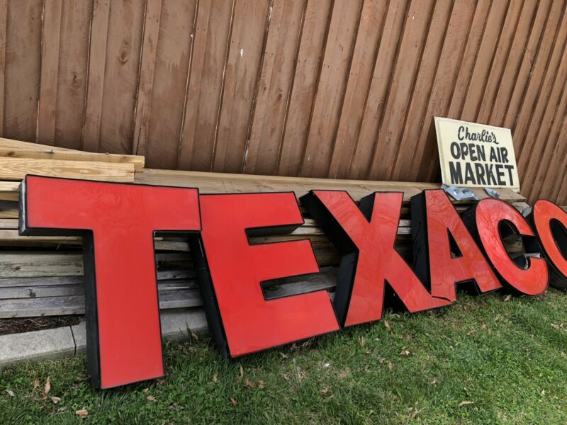 15 Foot Long Vintage Texaco Oil Gas Station Sign