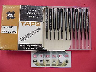 12 Pieces Osg No 1- 64 Nc Taps Gh1 2 Flute Spiral Point Plug 1-64 1200201