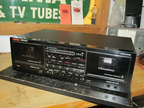 Tascam 202 MKII Bi-Directional DOLBY HX PRO Dual Cassette Deck, VERY NICE, WORKS