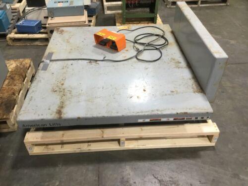 "American Lifts 6000 Lb Hydraulic Scissor Lift Table 55 1/2"" X 49 3/4"" #8230dk"