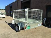 NEW 7x5 HEAVY DUTY GALVANISED TRAILER WITH 3' REMOVABLE CAGE Rosebud Mornington Peninsula Preview
