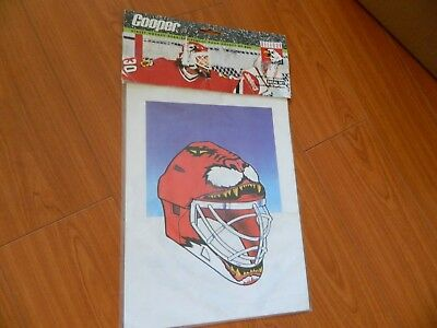 1990s ED BELFOUR mask decal set by Cooper street hockey gear sealed! CHICAGO , used for sale  Delta