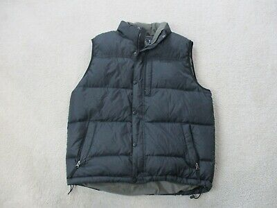 LL Bean Vest Adult Large Black Puffer Bubble Full Zip Outdoor Coat Mens Mens Bubble Vest