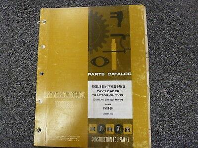 International Hough Ih H90 4wd Pay Loader Tractor Shovel Parts Catalog Manual