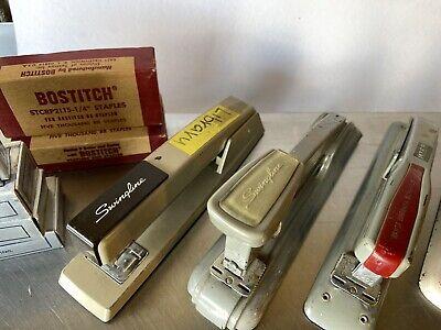 Vintage Stapler And Staples Lot.