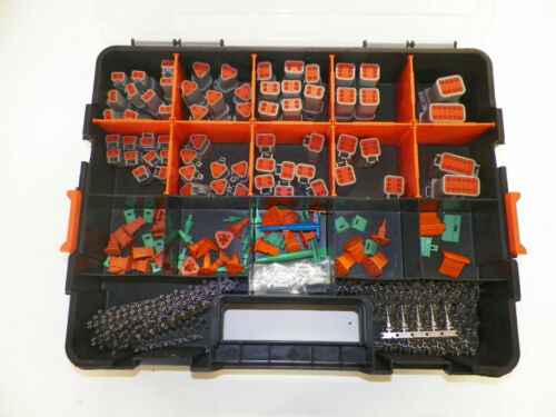 678 PC GRAY DEUTSCH DT CONNECTOR KIT STAMPED CONTACTS + REMOVAL TOOLS