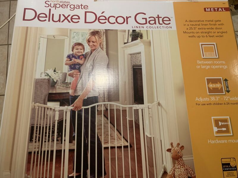 northstates supergate deluxe decor gate linen collection