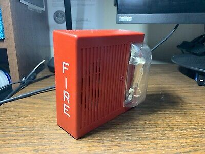 Wheelock As-241575 Fire Alarm Hornstrobe Wall Vertical Strobe Red