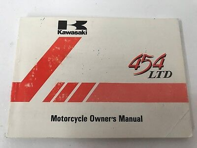 Kawaskai 454 Ltd En450 Owners Manual 1984 Motorcycle Other Years