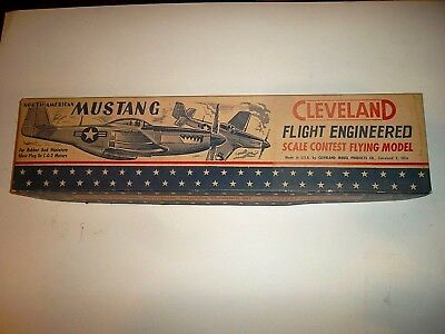 vintage 1950 cleveland ,flight engineered , contest model, P51 mustang, used for sale  Cornish