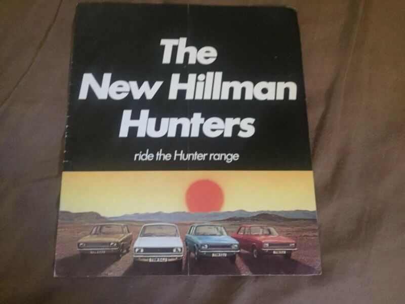 1971 Rootes Hillman Hunter Color  Brochure Prospekt