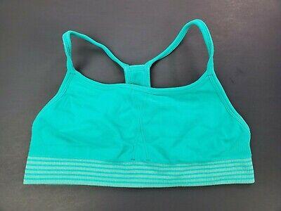 lot 2 crop cami sport bra ~ Champion ~ large 10-12 XL 14-16  turquoise blue