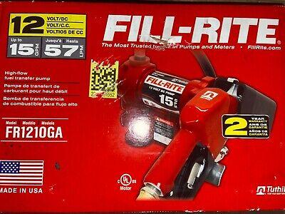 New Fill-rite Fr1210ga 12v 15gpm 57 Lpm Fuel Transfer Pump Discharge Hose Auto
