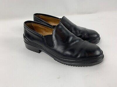 Cole Haan Memory Flex Comfort Black Leather Slip On Plain Toe Shoe 9 1/2 B 2 Plain Toe Slip