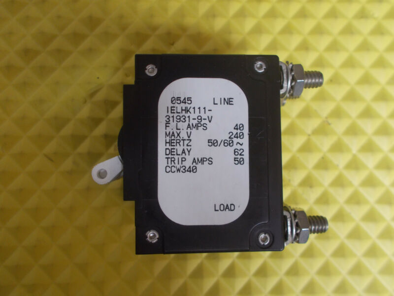 Airpax IELHK111-31931-9-V 40 Amp Triple Pole Circuit Breaker Marine