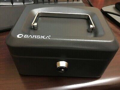 Barska Extra Small Locking Cash Box- 6 Steel