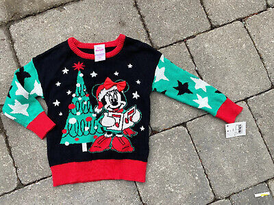 NEW NWT DISNEY MINNIE MOUSE christmas sweater top baby girl 12M OR 18M