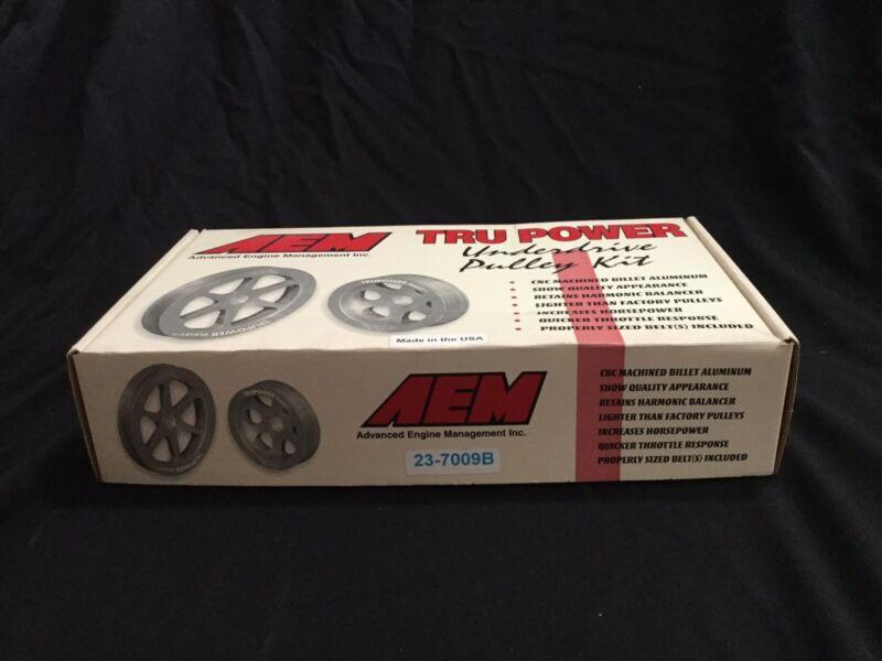 AEM 23-7009B Tru-Power Underdrive Pulley Kit w/belts- 88-1997 Fit Honda/acura