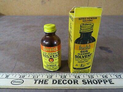 Vintage Gunslick Gun Cleaning solvent firearm Oil jar can advertising hunting