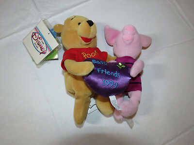 The Disney Store Pooh Friendship Mini Bean Bag Piglet & Pooh Best Friends (The Best Bean Bag)