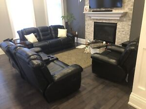Reclining couches - 3 piece set