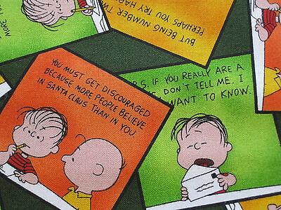 Peanuts Snoopy Halloween Great Pumpkin Comic Fabric Fat Quarter 18