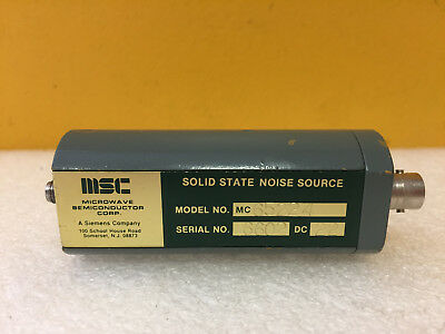 Microwave Semiconductor Msc Mc65224 7 To 11 Ghz 15.5 Db Enr Noise Source New