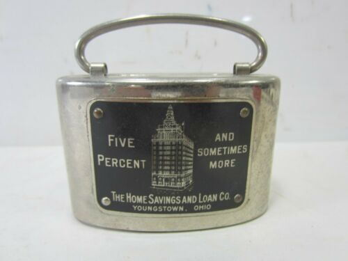 Vintage The Home Savings & Loan Bank Coin Bank Youngstown Ohio