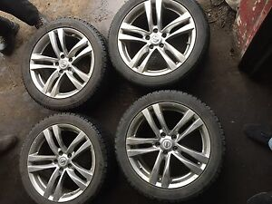245/45R18 Winter Tires set with Original Nissan Infinity Rims