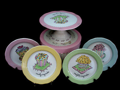 "Cupcake by Rosanna PLATE 8 1/4"" SET OF 5"