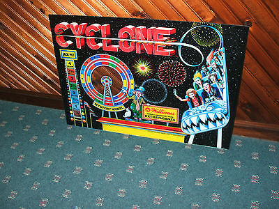 CYCLONE By Williams PINBALL MACHINE BACKGLASS