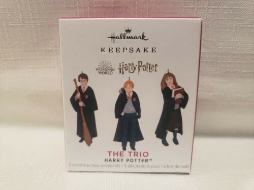 Hallmark 2021 Harry Potter The Trio Miniature Ornaments
