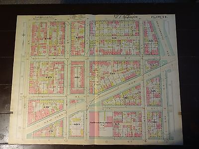 1892 Map of NW DC- Mt. Vernon Square NY Ave- Rare large property specific detail