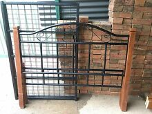 Double bed wood and steel bed frame St Marys Penrith Area Preview