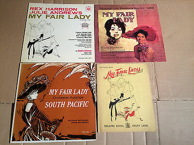MY FAIR LADY - R. HARRISON / JULIE ANDREWS + KARIN HÜBNER + SOUVENIR BOOK - 3 LP